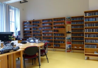 fotografie oddělení Zvuková knihovna pro nevidomé a slabozraké